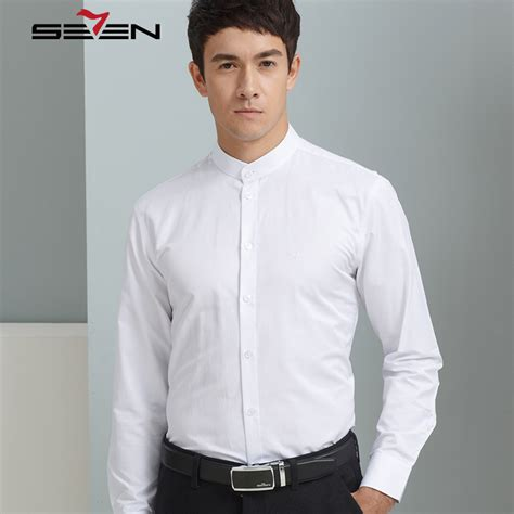 New Year Calls For A Mandarin Collar by Seven7 Brand Business Casual Shirts Sleeve