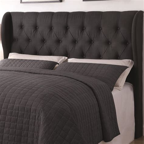 headboards black black button tuft headboard queen or full all american