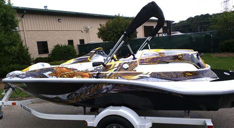 sea doo jet boat graphics world class wraps custom boat graphics