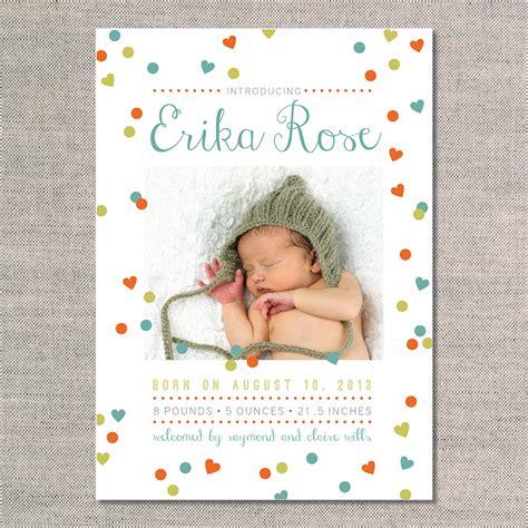 birth announcements the erika uh oh pasghettio