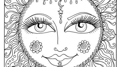 instant  sun summer coloring page adult