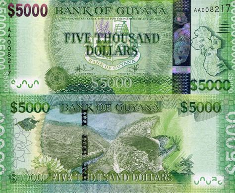buy a house for 1000 dollars guyana 5000 dollars banknote world money currency south american bill new sign14 ebay