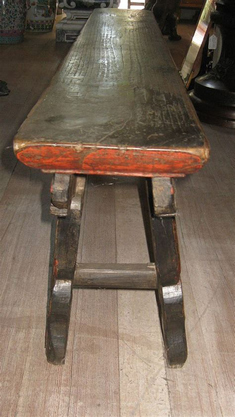 long skinny bench chinese long narrow fruitwood bench from
