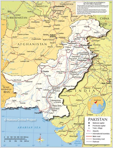 map of pakistan political map of pakistan nations project