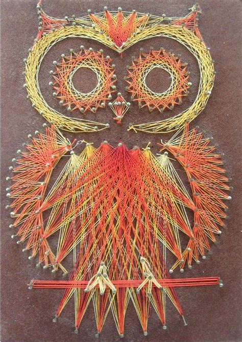 string art pattern owl owl string art woodland creatures mom and awesome