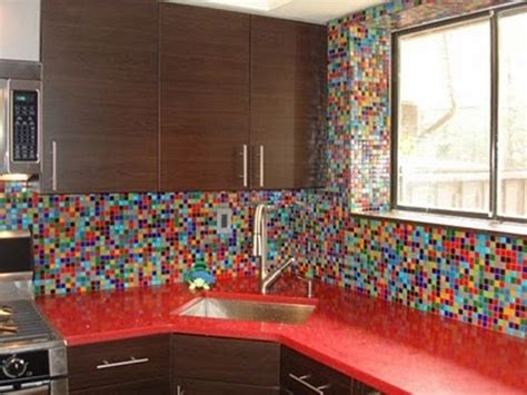 Colorful Backsplash Tile | 36 colorful and original kitchen backsplash ideas digsdigs