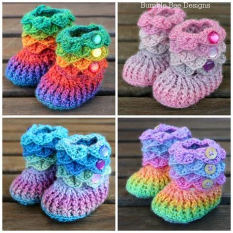Free Crochet Crocodile Stitch Booties Pattern