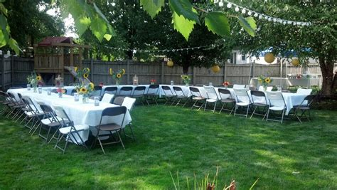 triyae ideas for backyard graduation various