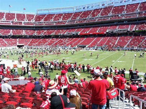 go section 8 san francisco levi s stadium section 134 row 15 seat 1 san francisco