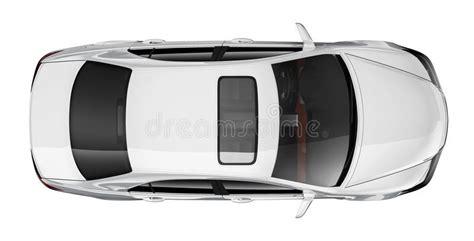 anafe hyundai white car top view stock illustration illustration of