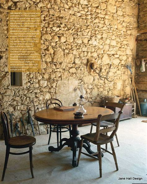 rustic french country dining room  house  garden uk
