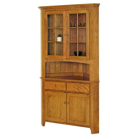 newport shaker corner hutch amish dining room furniture shaker amish large corner hutch keystone collections