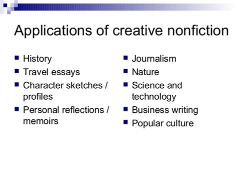 How To Write A Creative Nonfiction Essay by Non Fiction Creative Writing Purdue Owl Creative Nonfiction In Writing Courses