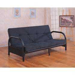 small futons metal size futon frame with small armrest in black 2345