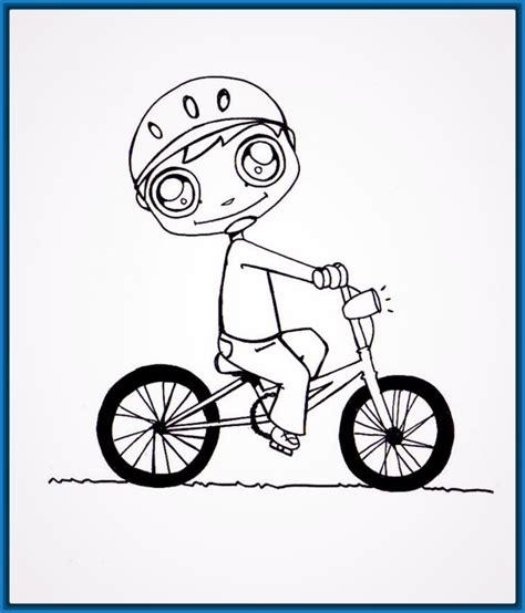 imagenes de bicicletas faciles para dibujar dibujos para colorear de ni 241 os andando en bicicleta