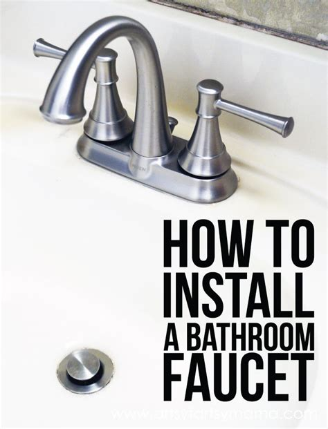 how to install a bathroom sink faucet how to install a bathroom faucet faucets bathroom faucets and bathroom