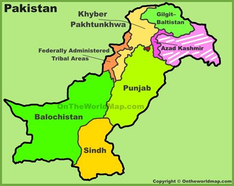 map of pakistan administrative divisions map of pakistan