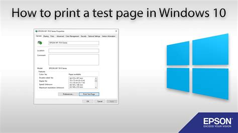 how to print a test page windows 10 youtube