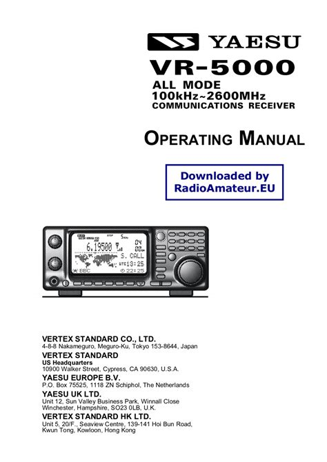 Yaesu vr 5000 manual download gumiabroncs Image collections