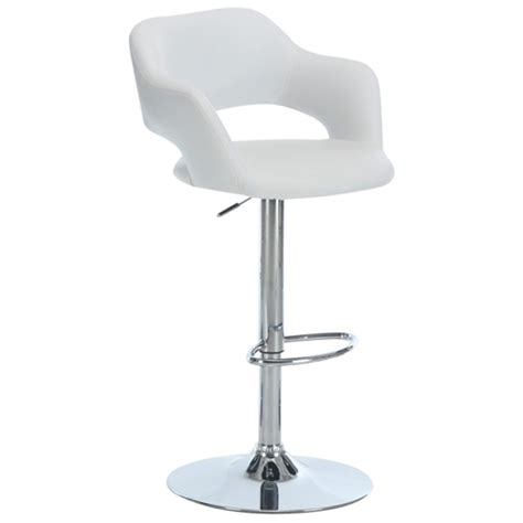 adjustable counter stools with arms euphoria adjustable bar stool with arms chrome white