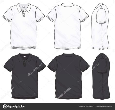 T Shirt Kaos Nike Putih black white polo t shirt design template stock vector 169 airdone 152994082