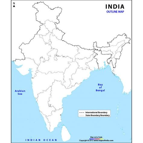 An Outline Political Map Of India by India Map Outline Driverlayer Search Engine