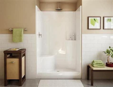 Shower Stalls Menards by Maax 174 Evergreen 1 Shower Lh Seat Center Drain At Menards Remodeling Ideas