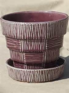 Mccoy Planters Value by Vintage Mccoy Pottery Flower Pot Retro Purple Mccoy