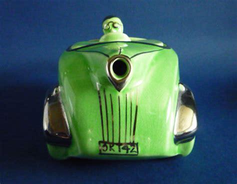 deco racing car teapot classic 1930s deco green racing car teapot by sadler