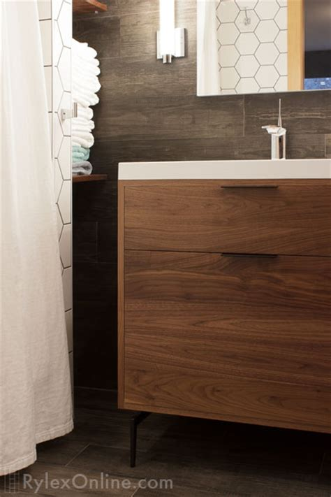 modern walnut bathroom vanity modern walnut vanity bathroom warwick ny
