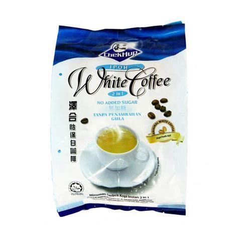 Chek Hup Ipoh White Coffee 2 In 1 jual chek hup ipoh 2 in 1 white coffee 450g 15x30g harga kualitas terjamin blibli