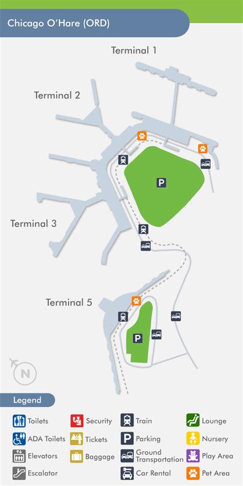 o hare terminal map o hare airport ord terminal map
