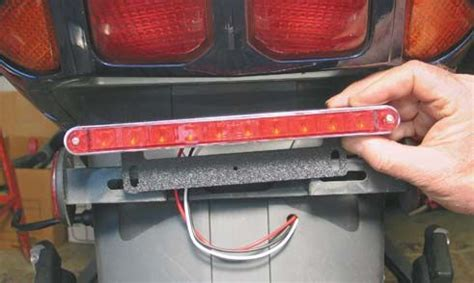 led brake light bar motorcycle install a motorcycle led brake light bar quarto drives