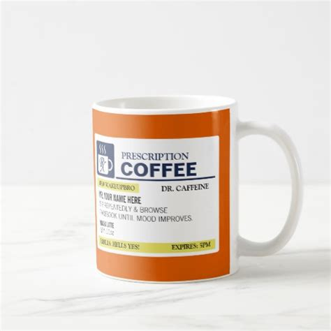 funny coffee mugs funny prescription coffee mug zazzle