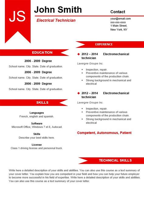 Best Modern Resume Templates Free Download Best Resume Templates Best Modern Resume Template