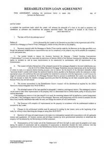 Loan Rehabilitation Agreement Letter Loan Contract Free Printable Documents
