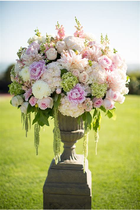 Wedding Flower Arrangments by These Flowers Peonies Hydrangea And Roses Are My