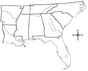 blank map of southeastern states