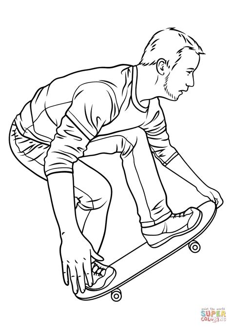 Skateboarding Coloring Page Free Printable Coloring Pages Skateboard Coloring Pages