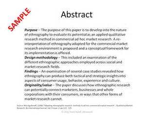 thesis abstract examples