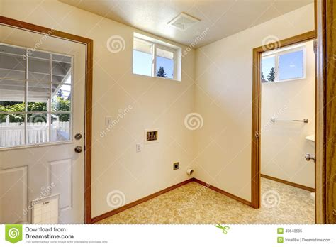 Walk Out Basement Floor Plans empty house interior in soft ivory color and linoleum
