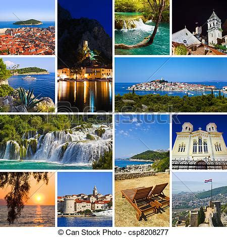 picture of collage of croatia travel images nature and