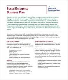 Social Enterprise Business Plan Template Business Plan Word Doc