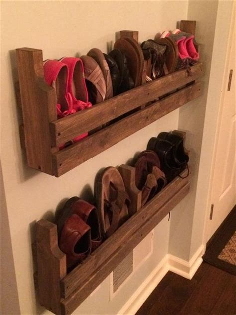 diy shoe racks the best diy pallet shoe rack ideas ideas with pallets