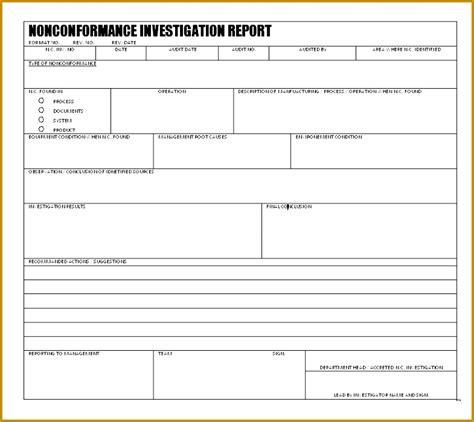 non conformance report template 5 quality non conformance report template fabtemplatez