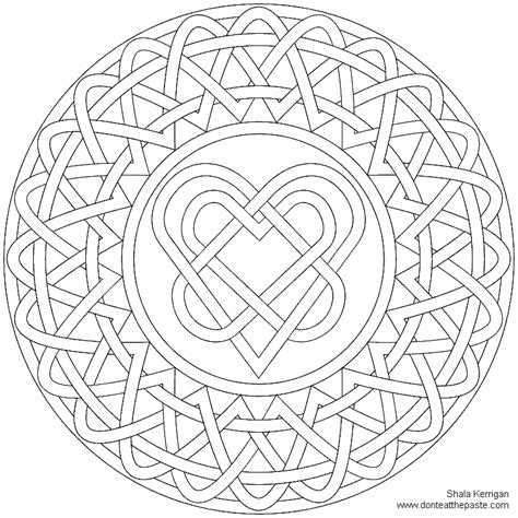 mandala coloring pages hearts celtic mandala coloring home