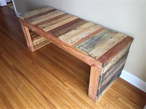 wooden benches diy diy recycled pallet wood bench pallet furniture plans
