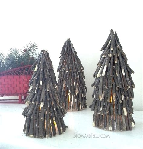 christmas tree made with twigs bring the nature indoors with these 13 rustic twig crafts