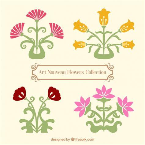 fiori varietà variet 224 di fiori in stile liberty scaricare vettori gratis