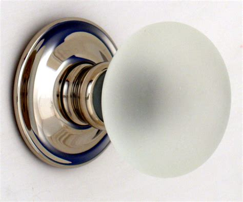glass door knobs frosted smooth glass door knobs